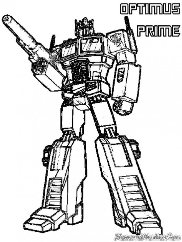 Preschool Optimus Prime Coloring Page to Print   nob6i