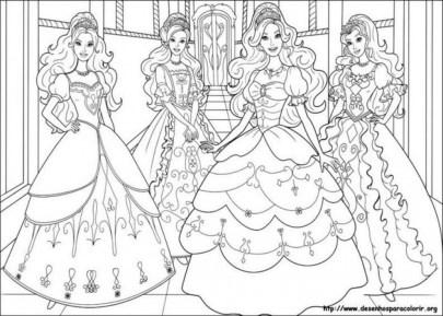 Preschool Printables of Barbie Coloring Pages Free b3hca