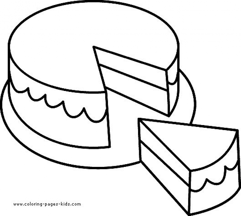 Get This Preschool Printables of Cake Coloring Pages Free
