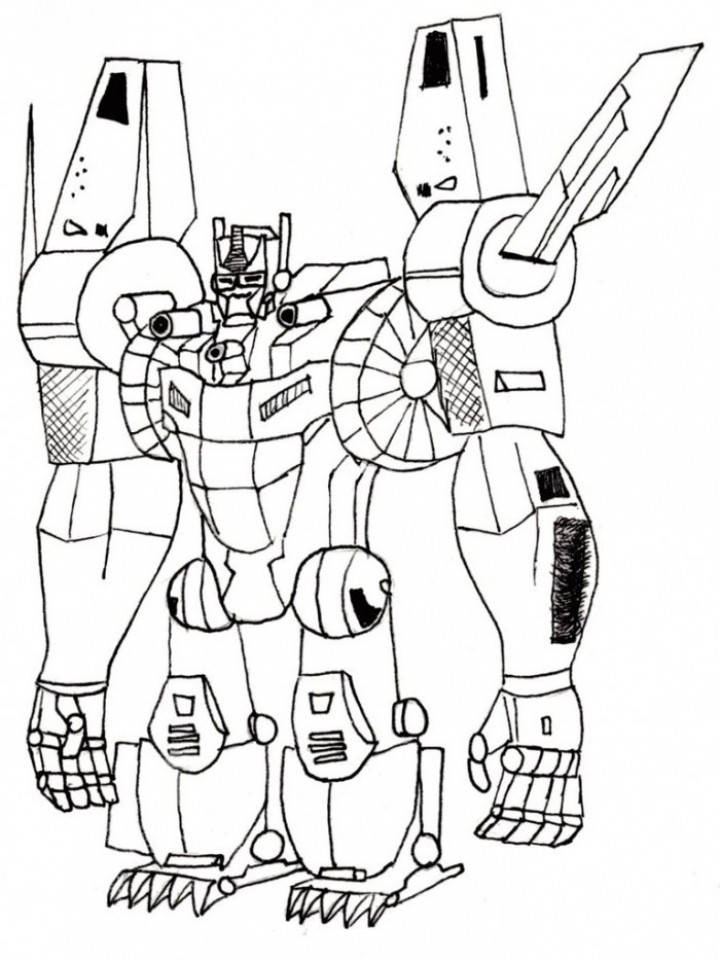 Preschool Printables of Optimus Prime Coloring Page Free   b3hca