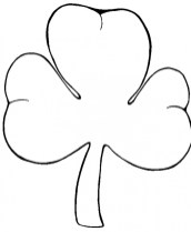 Preschool Printables of Shamrock Coloring Pages Free b3hca