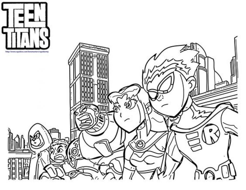 Preschool Printables of Teen Titans Coloring Pages Free jIk30