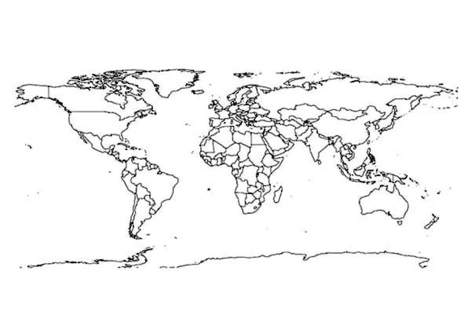Get This Preschool Printables of World Map Coloring Pages