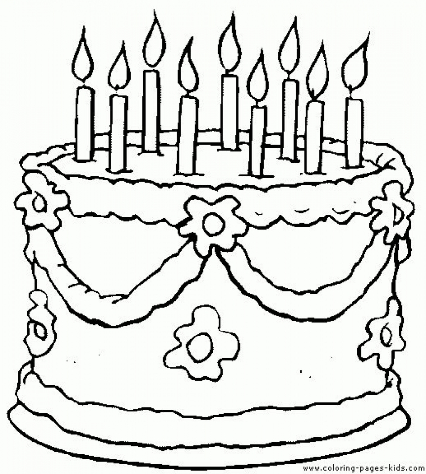 Remarkable Get This Printable Birthday Cake Coloring Pages 87141 Funny Birthday Cards Online Overcheapnameinfo