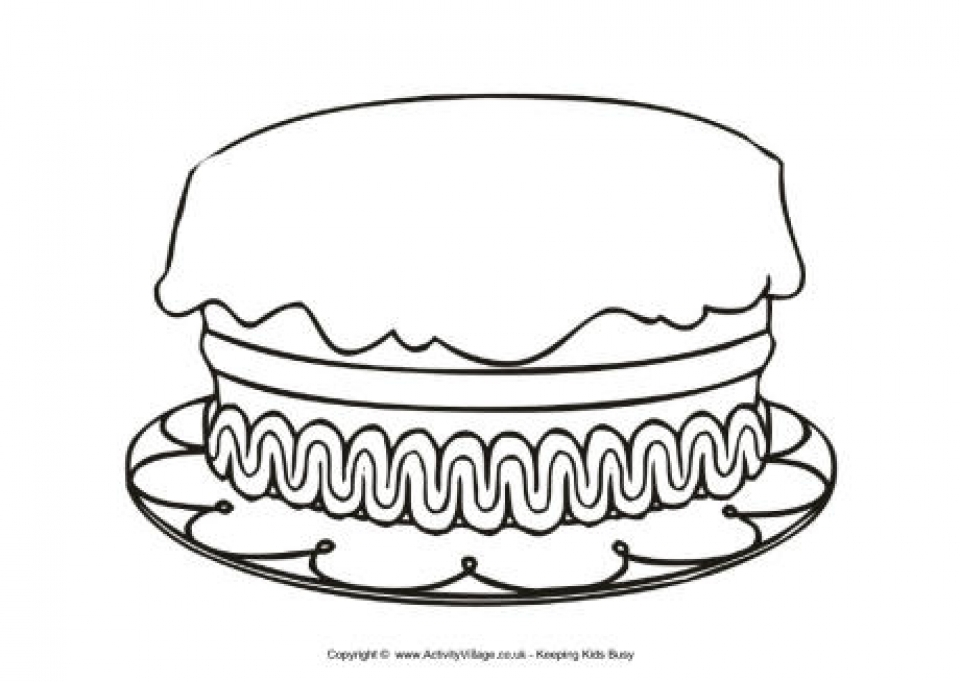 Get This Printable Birthday Cake Coloring Pages Online 85256