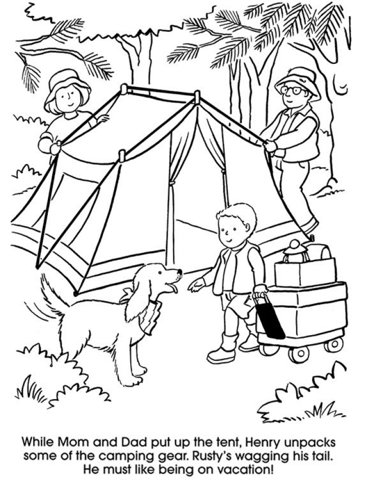 Get This Printable Camping Coloring Pages 87141