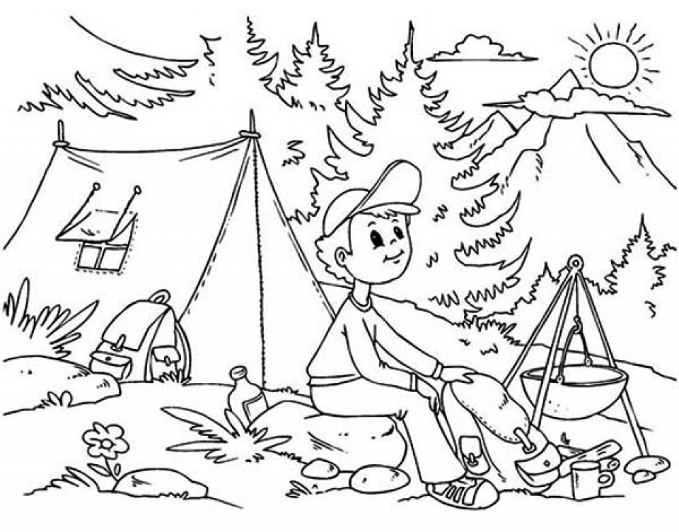 Get This Printable Camping Coloring Pages Online 91060
