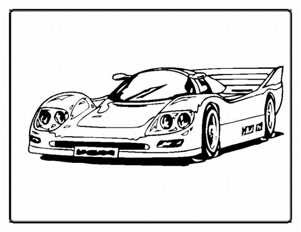 Printable Car Coloring Page Online   91296