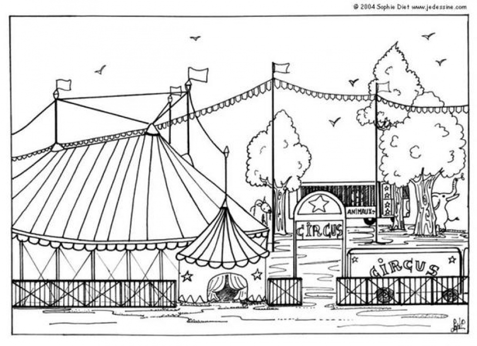Printable Circus Coloring Pages Online   59307