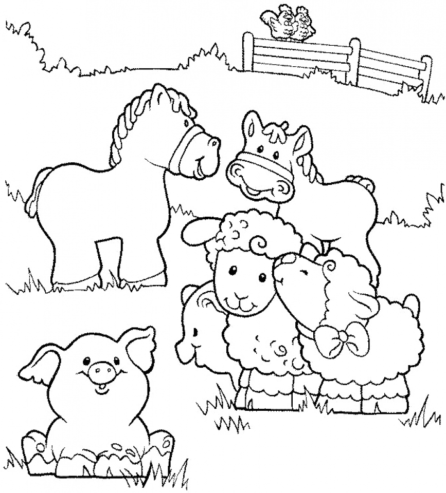 20+ Free Printable Farm Animal Coloring Pages ... | free printable colouring pages farm animals