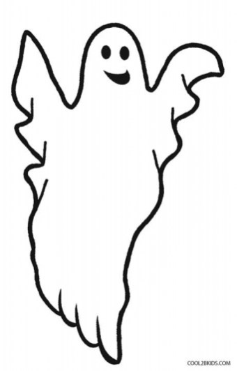 Printable Ghost Coloring Pages 29255