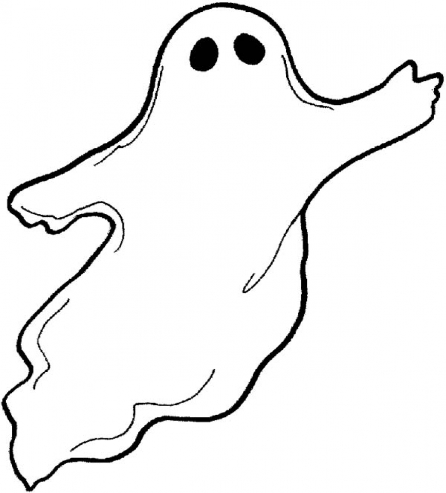 Printable Ghost Coloring Pages Online   64038
