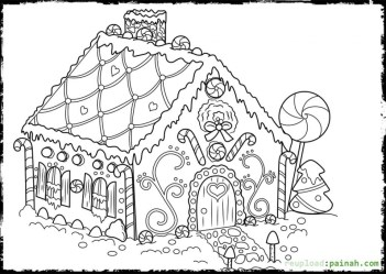 coloring gingerbread pages printable print