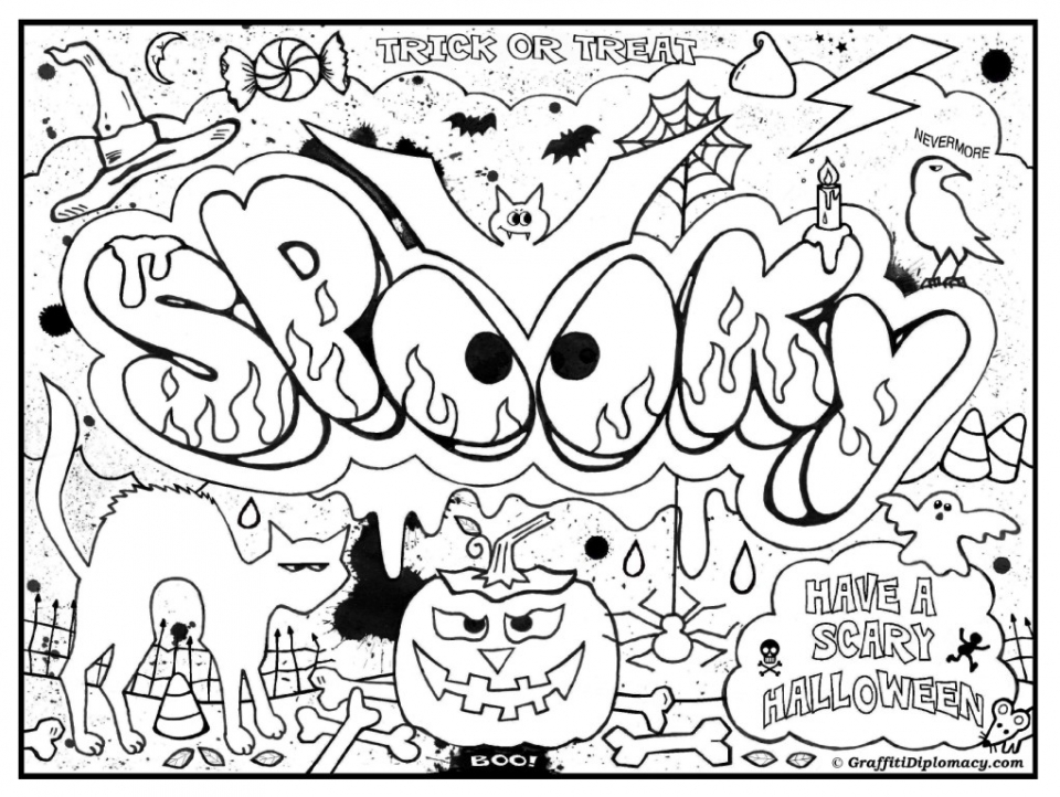 Printable Graffiti Coloring Pages Online 34394