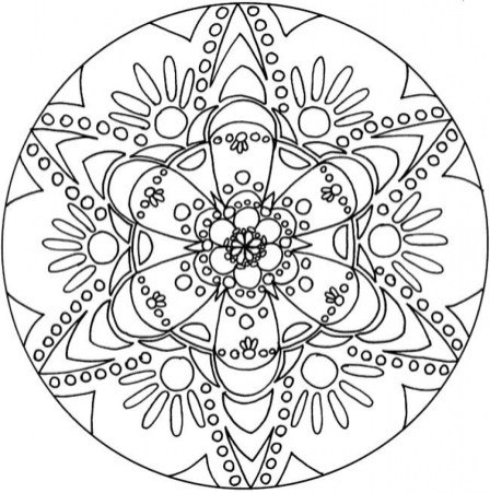Printable Mandala Coloring Pages For Adults Online 34394