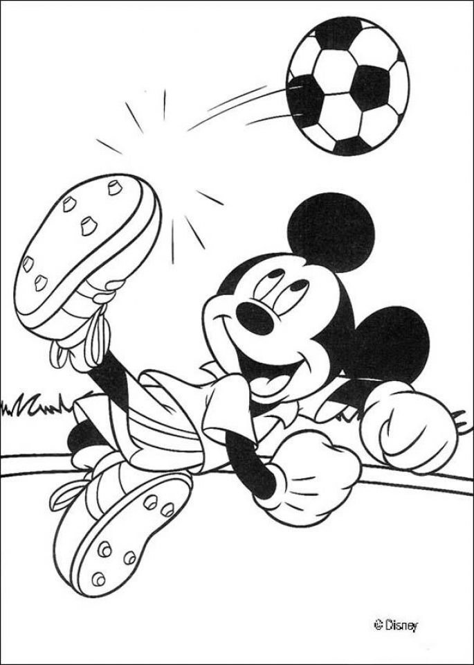Printable Mickey Mouse Coloring Page Online   59307