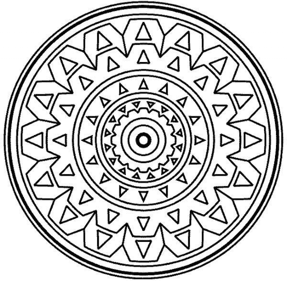 Printable Mosaic Coloring Pages Online   32651
