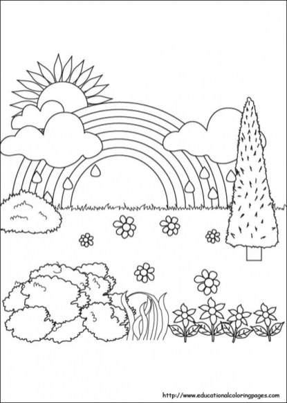 Printable Nature Coloring Pages for Kids 5prtr