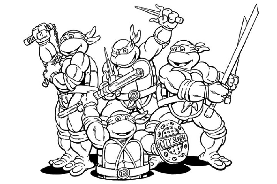 Printable Ninja Turtle Coloring Page   70550