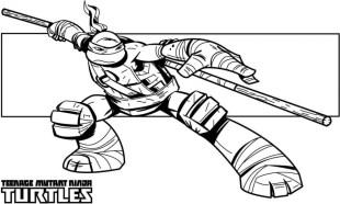 Printable Ninja Turtle Coloring Page 87126