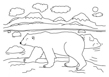 Printable Polar Bear Coloring Pages for Kids 5prtr
