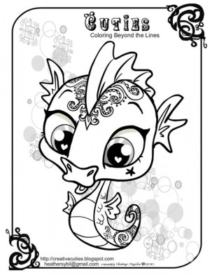 Printable Seahorse Coloring Pages 64912