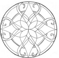 Stained Glass Coloring Pages Sketch Coloring Page