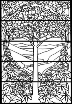 Printable Stained Glass Coloring Pages Online 34394