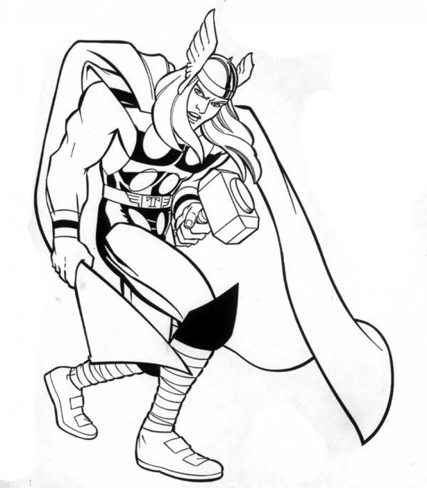 Thor Coloring Pages | Avengers coloring pages, Superhero coloring ... | 960x839