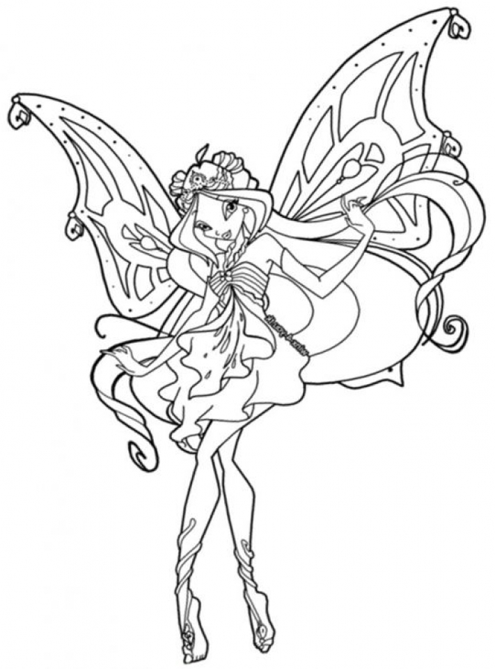 20+ Free Printable Winx Club Coloring Pages