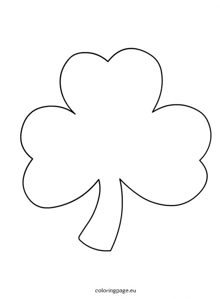 Shamrock Coloring Pages Free for Kids   e9bnu
