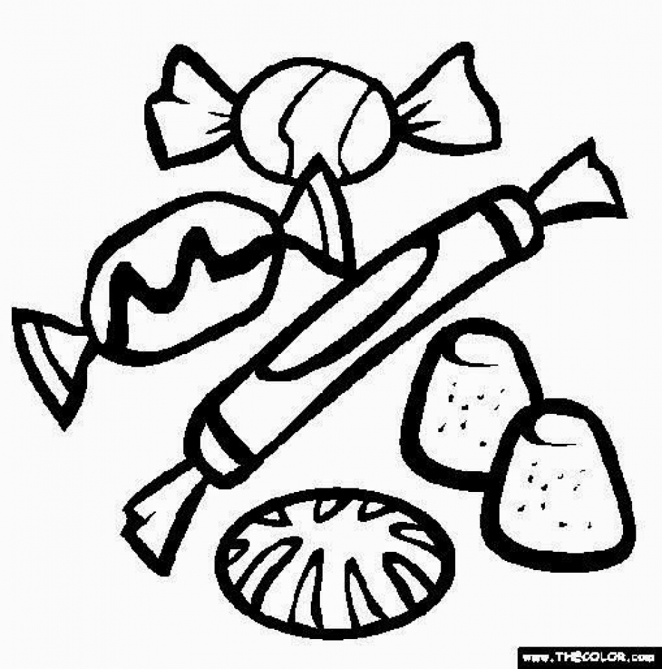 Get This Simple Candy Coloring Pages to Print for