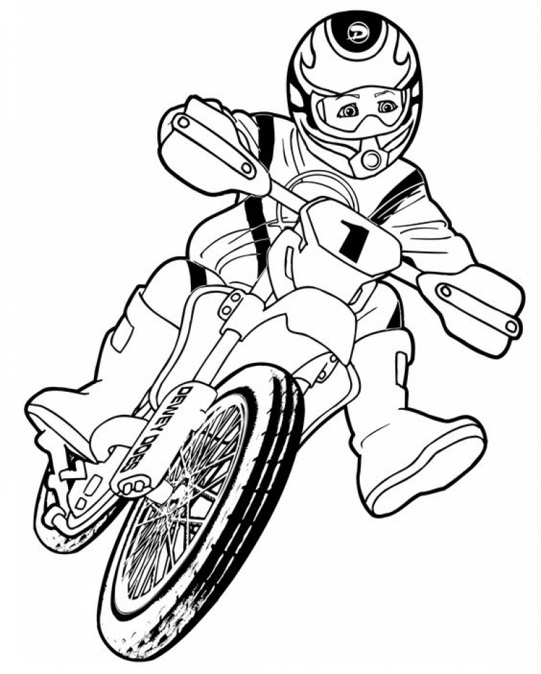 20+ Free Printable Dirt Bike Coloring Pages
