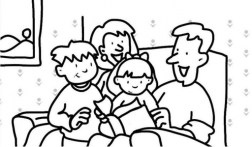 Simple Family Coloring Pages to Print for Preschoolers cdsxi