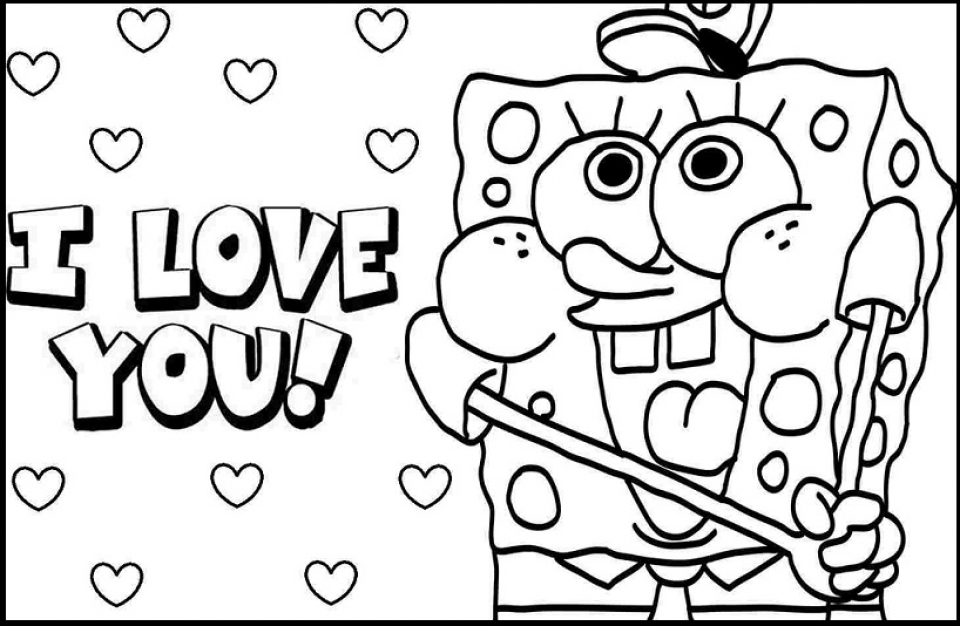 Simple I Love You Coloring Pages to Print for Preschoolers   cdsxi