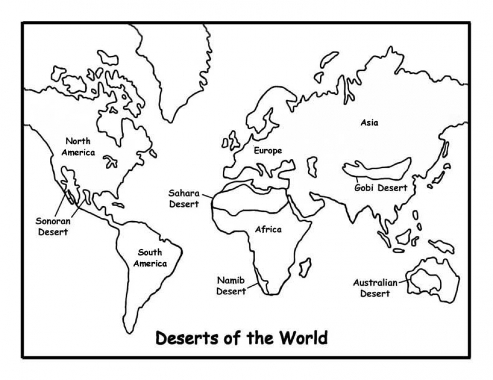 Get This Simple World Map Coloring Pages to Print for