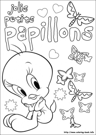 Tweety Bird Coloring Pages Free Printable 66396