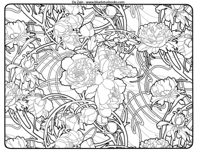 Art Deco Patterns Coloring Pages Free Printable for Adults - ugf4546