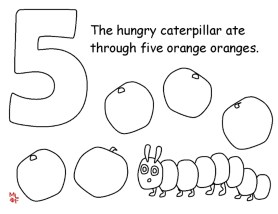 The Very Hungry Caterpillar Coloring Pages Free for Kids - 32812
