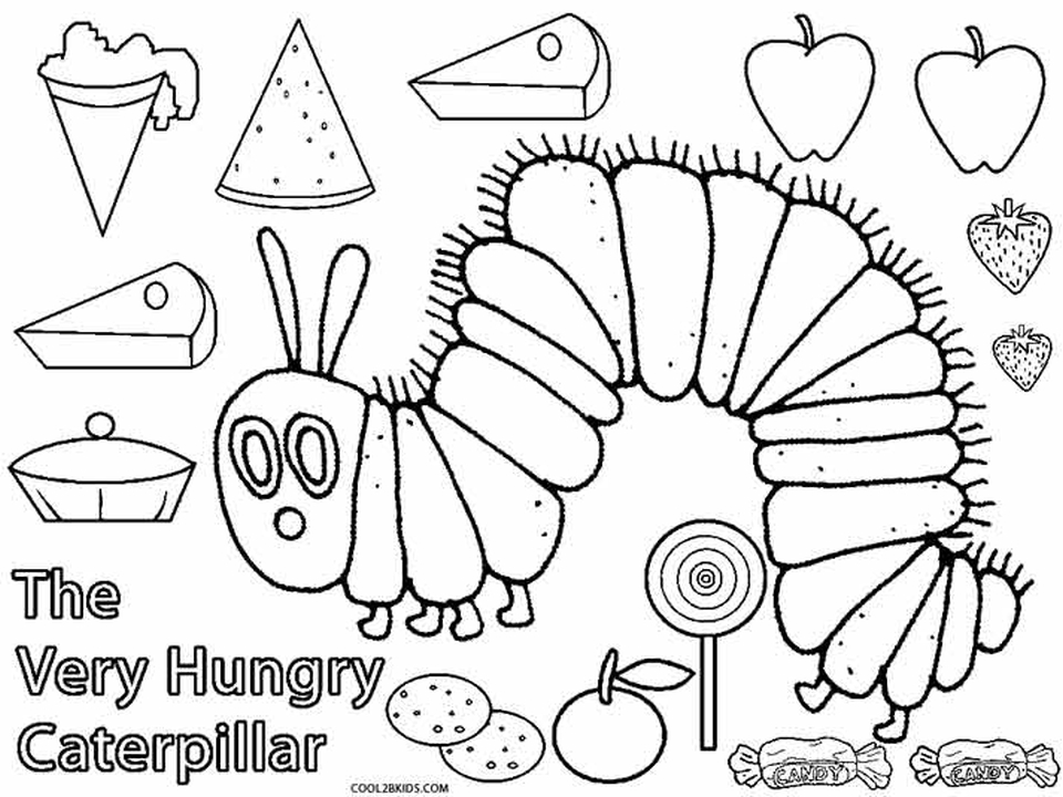 This is a picture of The Very Hungry Caterpillar Printable pertaining to food