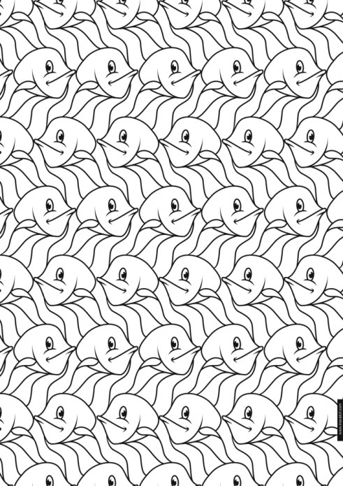 Adult Printable Tessellation Coloring Pages 23856