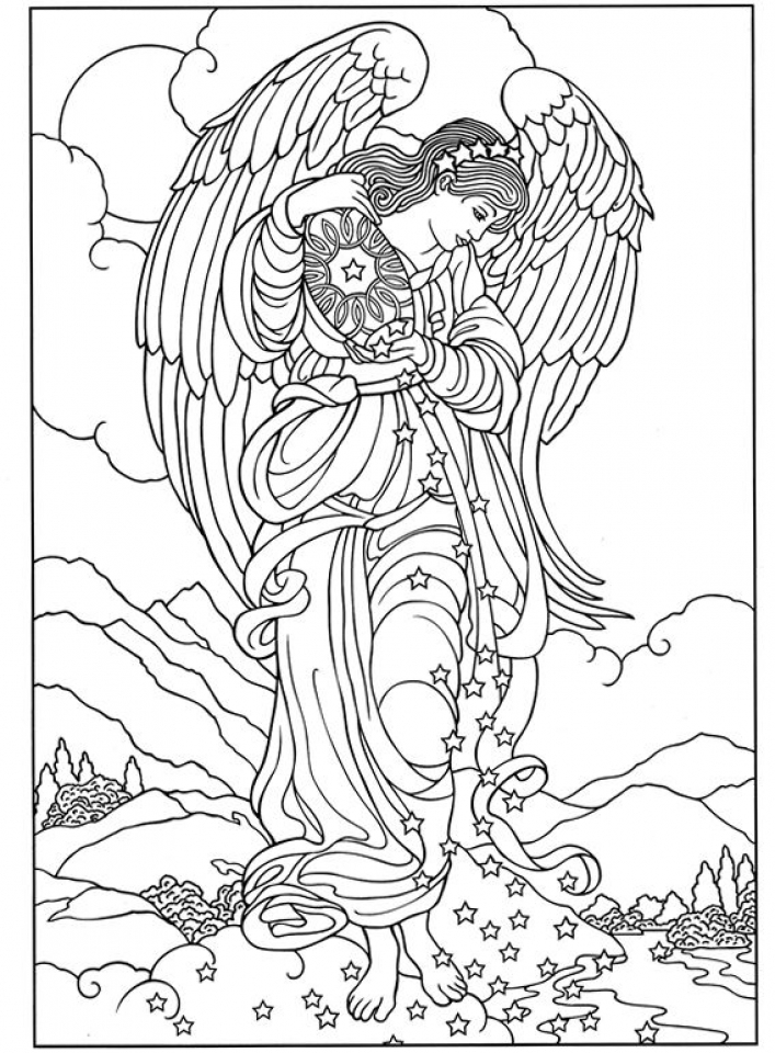 20+ Free Printable Angel Coloring Pages for Adults