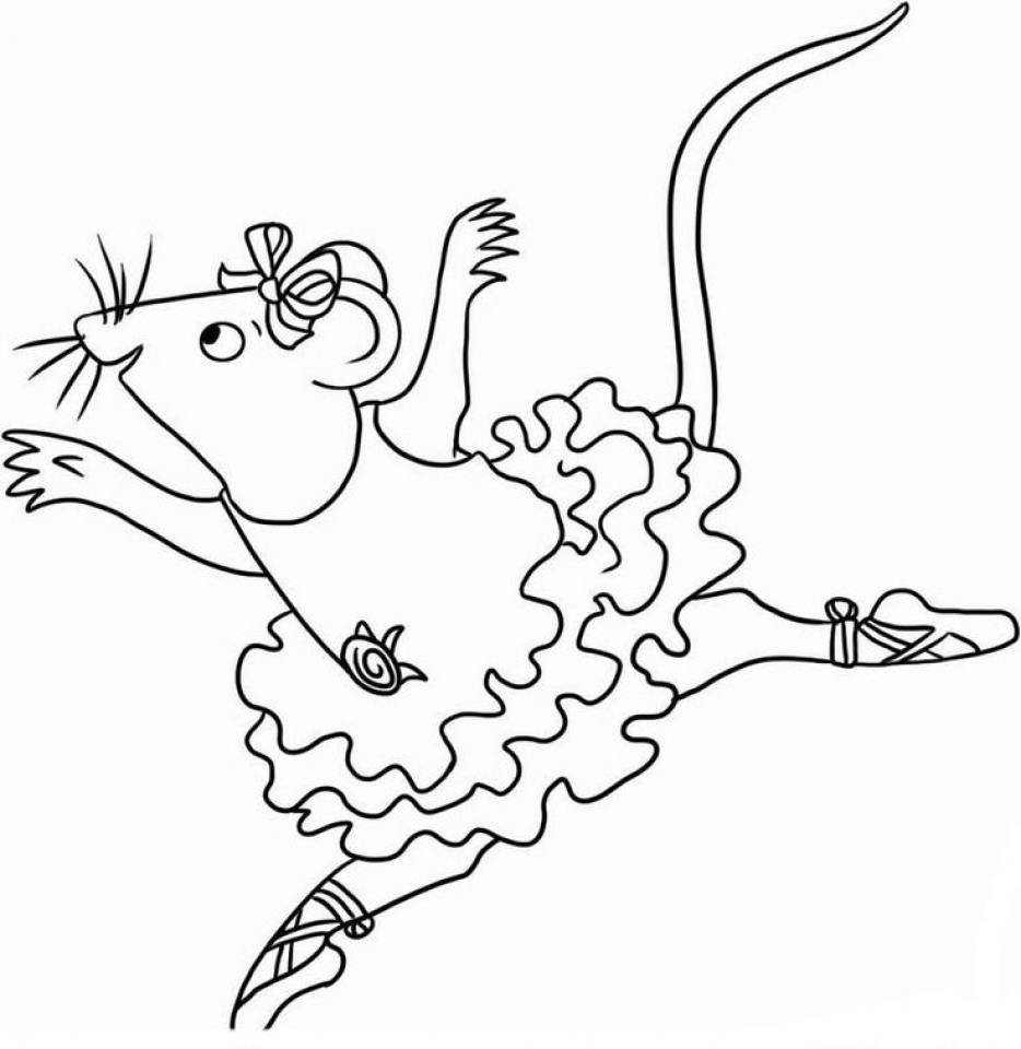 Get This Angelina Ballerina Coloring Pages Free Printable
