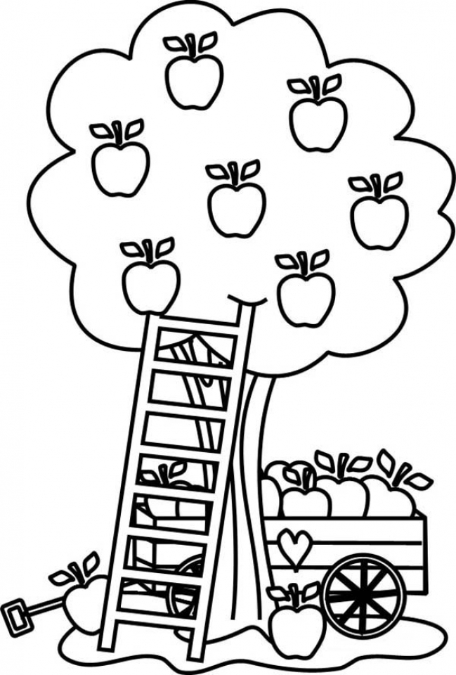 Fruit Coloring Pages - Free Printable - Easy Peasy and Fun | 960x649