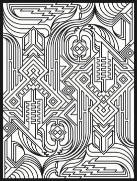 Art Deco Patterns Coloring Pages for Adults to Print 3478jg