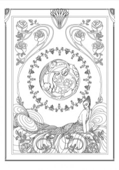 Art Deco Patterns Coloring Pages for Grown Ups usdn56