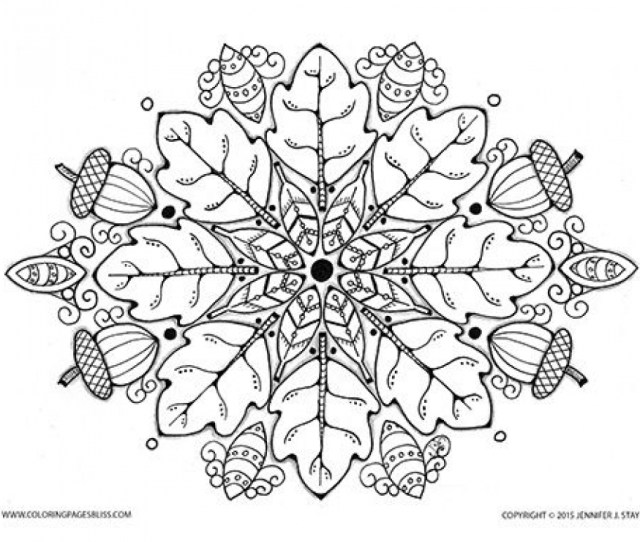 Free Printable Autumn Fall Coloring Pages For Adults
