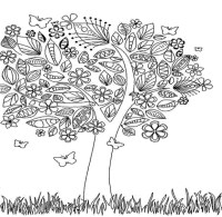 Fall Pages For Adults Coloring Pages
