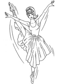 Ballerina Coloring Pages for Kids 89623