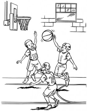 Basketball Coloring Pages Free Printable 655762